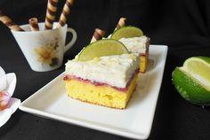 Retete Culinare - Rasturnata cu visine si crema de lime