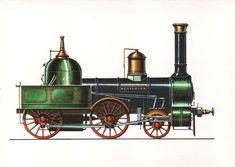 """Personenzug-Lokomotive """"Rotterdam"""" (1856) Die """"Rotterdam"""", von der Berliner Lokomotivfabrik Borsig für die Magdeburg-Halberstädter Eisenbahn gebaut, war eine Personenzug-Lokomotive mit vorderer Laufachse (1B). Sie war bis zum Tage ihrer Ausmusterung fast 25 Jahre im Dienst."""