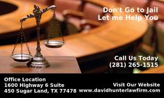 Fort Bend Criminal Lawyer and Former Judge David Hunter, located in Sugar Land provides legal representation for individuals needing a criminal defense attorney.  To know more,Visit : http://www.davidhunterlawfirm.com/