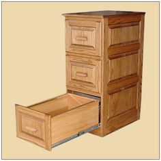 Wood File Cabinet With Lock