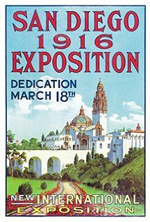 Amazon.com: San Diego-Art Deco Style Vintage Travel Poster-by ...