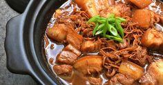 Annielicious Food: Hakka Braised Pork Belly with Dried Cuttlefish (吊片焖花腩)