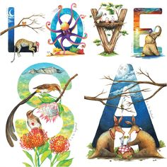 """A poster featuring the entire South African Animal Alphabet. Perfect for littlies just learning to read; a totally unique baby shower gift; a wondrous staple piece in a child's nursery or room; a fantastic gift for those who are wild at heart.  Wonderfully whimsical. Fabulously unique. Proudly South African.  420mm x 594mm     16.5"""" x 23.5""""  This one-of-a-kind South African keepsake is printed on Coated Matt, 180g white paper.  #loveRSA #handmade www.thehappystrugglingartist.co.za South African Art, Unique Baby Shower Gifts, Animal Alphabet, African Animals, Staple Pieces, Wild Hearts, White Paper, Nursery Wall Art, Whimsical"""