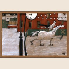 Двойной тулуп. Из набора Про Лошадь - Катя Бауман   Магазин открыток Cardspoint.ru