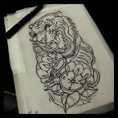 Tiger shin jammer for today @cloakanddaggerlondon  #tattoo #tattoos #tiger #compass #sketch ...