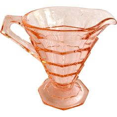 Indiana Tea Room Pink Depression Glass Creamer found at www.rubylane.com @rubylanecom