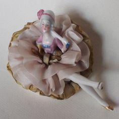 Powder Puff Doll, German, Victorian Woman Half Doll with Legs Vintage Makeup, Vintage Vanity, Dressing Tables, Half Dolls, Powder Puff, Victorian Women, Hello Dolly, Treasure Boxes, Tins