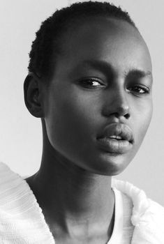 Photo by @Tara Shpantzer Backstage model Ajak Deng NY Fashion Week