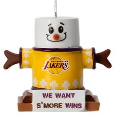 Los Angeles Lakers Smores Ornament: We want s'more wins!