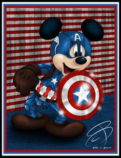 Mickey Mouse I drew for the Fourth of July July Mickey Mickey Mouse Pictures, Mickey Mouse Art, Mickey Mouse Wallpaper, Mickey Mouse And Friends, Disney Pictures, Disney Wallpaper, Disney Duck, Cute Disney, Disney Art