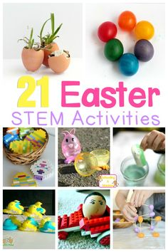 Easter is an exciting time for most kids. Capture this excitement and boost STEM skills with these Easter STEAM activities! Easter Activities For Kids, Spring Activities, Easter Crafts For Kids, Easter Ideas, Stem Projects, Projects For Kids, Science Projects, School Projects, Steam Activities