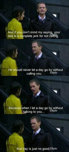 how I met your mother ... barney Stinson indirectly declaring his love for Robin ...