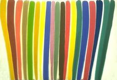 """Color Field painter  Morris Louis, """"Where,"""" 1960. (Courtesy Hirshhorn Museum and Sculpture Garden/Wikipedia)"""