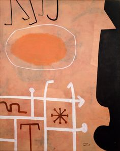 Adolph Gottlieb ~ Sentinel, 1951, was an American abstract expressionist painter, sculptor and graphic artist