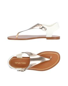 0c50e3c6b066 SERGIO ROSSI Women s Toe strap sandal Bronze 10 US Strap Sandals