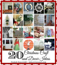 20 Christmas Craft and Decor Ideas - The Silly Pearl