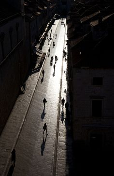 .Awesome shadows by on Stradun Street in Dubrovnik, by Perry M.