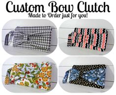 Custom Clutch Purse  Made to Order  Bow Clutch by TheHumblePenguin, $25.00