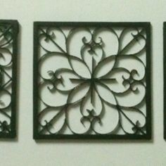 Easy DIY Iron Wall Art! using cardboard and toliet paper rolls  Looks like metal when painted black
