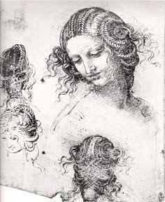 Da Vinci Leda and the Swan sketches