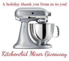 KitchenAid Mixer Giveaway (US & Can) - Simply Stacie