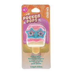 Peach Fancy Flavoured Pucker Pops Lipgloss
