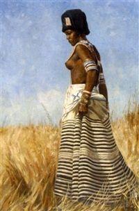 A Xhosa woman, Heinrich H. History Books, Art History, Beautiful African Women, Xhosa, African Attire, Black People, Black Is Beautiful, African Art, African Fashion