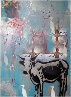 Nguni - Painting by Mary-Louise Bicket | StateoftheArt.co.za Bull Cow, Cows, Cattle, Moose Art, Mary, Sculpture, Drawings, Painting, Animals