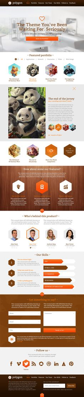 Polygon - One Page Business / Portfolio PSD Templa by ~prestigedesign on deviantART  #webdesign
