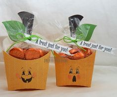 Chick-n-Scrap: Pumpkin Fry Boxes Aren't these sweet!