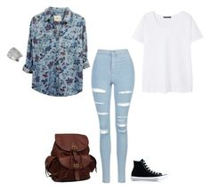 """""""Casual"""" by the-story-untold ❤ liked on Polyvore featuring Topshop, Rails, Violeta by Mango, AmeriLeather, Converse and Miss Selfridge"""