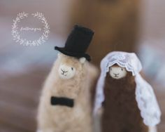 Hand made felted cake topper  100 % natural wool roving from Argentina  No…