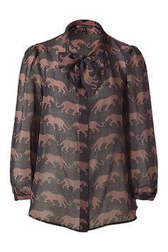 marc jacobs panther tie blouse...grrr baby