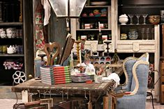 Anthropologie store, London...love the artistic mess!