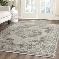 Safavieh Vintage Grey/ Multi Viscose Rug (10' x 14') | Overstock.com Shopping - Great Deals on Safavieh 7x9 - 10x14 Rugs
