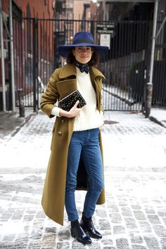 maison michel wide brim fedora...... Because It's Cold | Man Repeller....