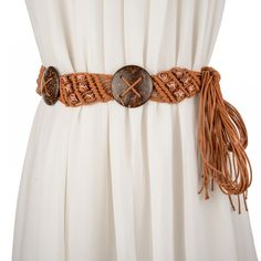2017 New Belts for Women wide belt braided rope knotted wooden beads decorative tassels Waistband female belt Cocktail Wear, Rope Knots, Woven Belt, Dress Gloves, Belts For Women, Ladies Belts, Paisley Design, Ladies Party, Shawls And Wraps