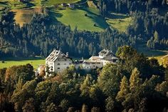 Castle Hotel Schloss Mittersill lies amidst Salzburg's Hohe Tauern National Park Holiday Region. This historical, fairy-tale accommodation at Austria's Kitzbühel Alps ski region Places In Europe, Oh The Places You'll Go, Cool Places To Visit, Salzburg, Smurf House, Heavenly Places, Amazing Places, Heart Of Europe, Hotels