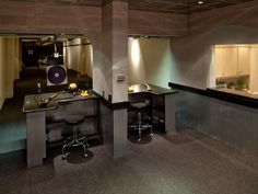 An indoor basement shooting range. What home is complete without one?