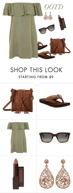"""""""Kim's OOTD on Wednesday (outfit only)"""" by runners ❤ liked on Polyvore featuring American West, Clarks, Topshop, Monokel, Burt's Bees and Luxiro"""