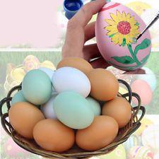 1Pc Painted Graffiti Wood Chicken Egg Hen Easter Egg Decoration Dummy Nesting $2 ebay china