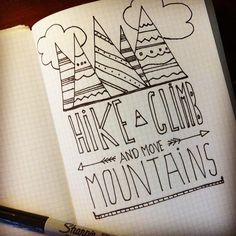 drawing quotes drawings easy mountains doodles sketch doodle mountain move sketches rysunki something proste moving spoonflower zeichnen schoene