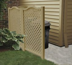 Wood Garbage Can Shed Plans Free-Free Building Plans Storage Shed Hide Trash Cans, Trash Bins, Shed Building Plans, Shed Plans, Cheap Sheds, Porches, Ideas Prácticas, Wooden Sheds, Garbage Can
