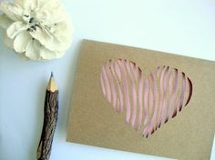 These heart note cards would make such a cool gift.  I heart these and want them :-)