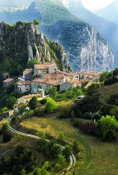 Mountain Village in Rougon, France: