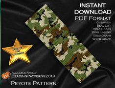 Peyote Pattern Bracelet Cuff Beading Miyuki por BeadingPatterns2013