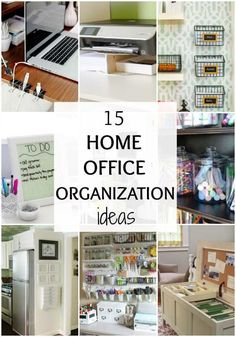 45 Awesome Home Office Organization Ideas And DIY Office Storage Diy Organisation, Small Office Organization, Home Office Storage, Home Office Space, Home Office Design, Home Office Decor, Office Furniture, Office Designs, Office Setup