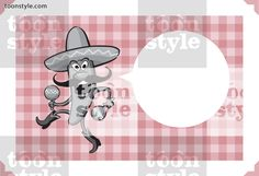Greeting card with cartoon dancing chili pepper with maracas – personalize your card with a custom text