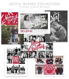 Joyful Wishes Christmas Card Templates by Jamie Schultz Designs