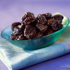 Oounce for ounce, dried plums (you know them as prunes) pack five times the fiber and vitamin K—a nutrient necessary for proper blood clotting—as the fresh kind.